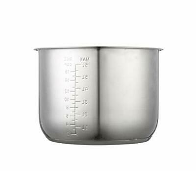 Replacement Stainless Steel Inner Pot Compatible w/Power Pressure Cooker-8 Quart