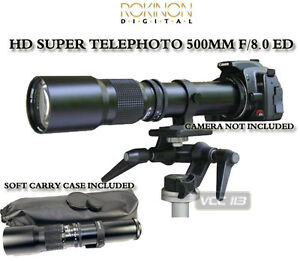 500mm Telephoto Lens for Olympus E-450 E-420 E-1 E-300