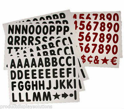 314-4 Replacement Letters Numbers Kit For White Message Board Sidewalk Sign