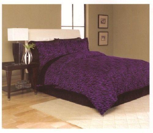 Purple Zebra Bedding Twin Ebay
