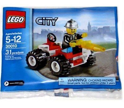 30010 FIRE CHIEF promo city town lego minifigure NEW poly bag legos set