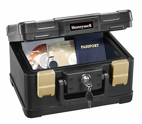 Honeywell 0.15 Cu. Ft. Fire- and Water-Resistant Security Chest 1102