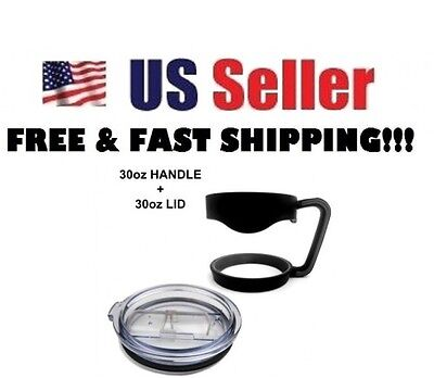 Handle and/or Lid For 30 Oz YETI OZARK Tumbler Cup Holder Black - (Not RTIC)