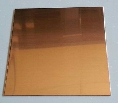 48 Oz. 116 Flat Copper Sheet Plate 8 X 8