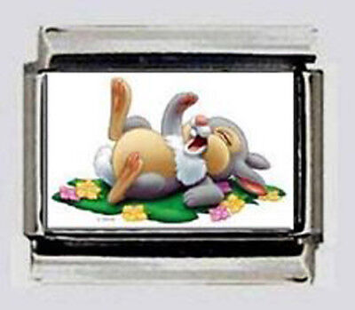 THUMPER baby rabbit bambi #2 Italian photo 9mm Charm for modular link bracelet