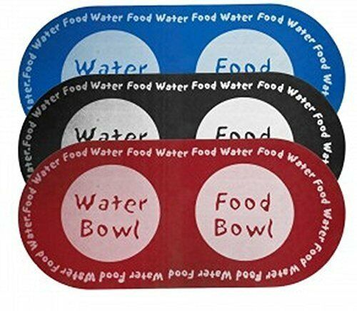 Pet Food and Water Mat - Dog Cat Puppy and Kitty Feeding Foam Bowl Placemat