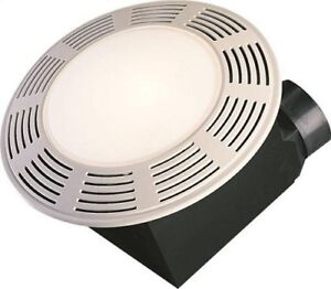 Air King AK863L Deluxe Bath Fan with Light and Night Light, Roun