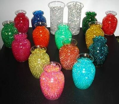 Gel Water Beads, Expanding Centerpiece Vase Filler & Water Reducing Crystal Bead