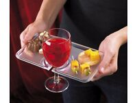 Party Tray Hold A Drink And Food With One Hand - Set of 2 - new