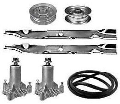 Sears Craftsman Lt1750 42  Mower Deck Rebuild Kit Spindles Blades Belt 144959