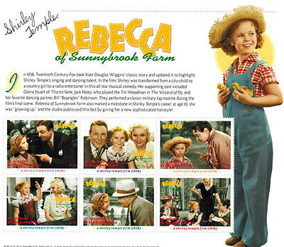 """SHIRLEY TEMPLE  """"Rebbeca"""" collection, Postage Stamps-2 SHEETS & S/S MNH"""