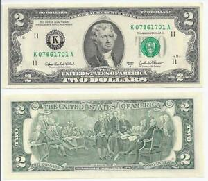 2003 2 Dollar Bills