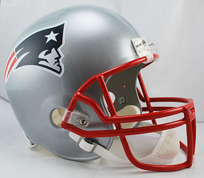 - NEW ENGLAND PATRIOTS NFL Riddell Full Size Deluxe REPLICA Football Helmet