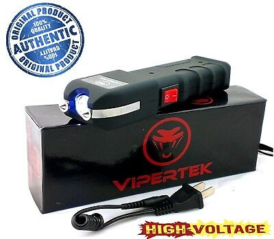 VIPERTEK VTS-989 - 999 MV Rechargeable LED Light Stun Gun Heavy (Vipertek Vts 989 Heavy Duty Stun Gun)