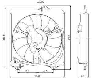Engine Cooling Fan Assembly Global 2811384 Fits 01 04 Toyota Rav4 2 0l L4 For Sale Online Ebay