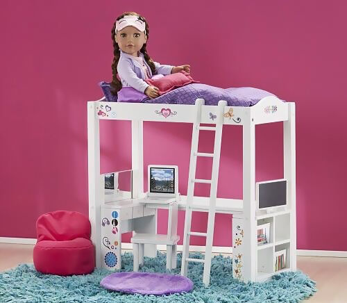 Perfect Furniture For American Girl Includes Items To Scale For The Doll For The  Bedroom, Kitchen, Living Room, And Nursery. In The Bedroom, A Selection Of  Beds ...