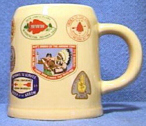 BSA Mug NOAC 1983 Order of the Arrow Collage Beer Stein