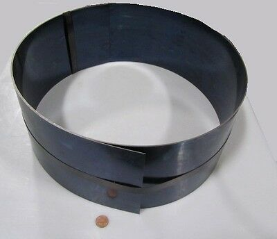 Blue Tempered Spring Steel Shim 0.032 Thick X 6.00 Width X 120 Length