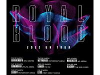Royal Blood standing tickets, Motorpoint Arena Nottingham, Tuesday 29th March 2022