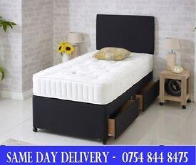 Single Divan Set Single bed Mattress and Headboard BRANDNEW.