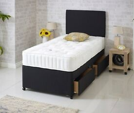 Can Deliver Today BRANDNEW Factory Price Bed Black Single Bed Mattress Pay cash On Delivery