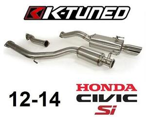 """NEW K-TUNED CIVIC CAT BACK EXHAUST - 122441554 - 3"""" Cat Back Exhaust System 2012-2014 Civic Si Sedan"""