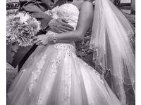 Ivory wedding dress 8 -12