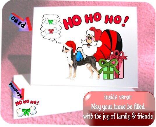 30 Greater Swiss Mountain Dog Swissie Christmas cards Santa Ho Ho Ho design