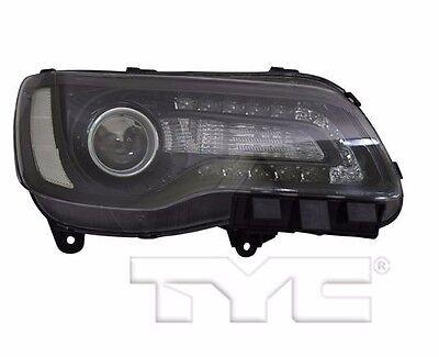 TYC NSF Right Side Halogen Headlight For Chrysler 300 Black 2015-2016 Models