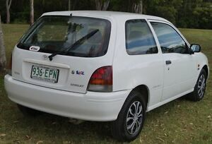 1998 Toyota Starlet Life White 5 Speed Manual Hatchback Bundaberg West Bundaberg City Preview