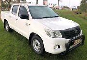 2012 Toyota Hilux TGN16R MY12 Workmate Double Cab 4x2 White 4 Speed Automatic Utility Berrimah Darwin City Preview
