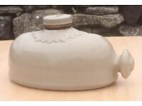 Two Antique Stone Hot Water Bottles