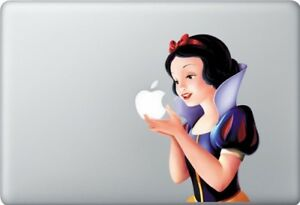 Snow White sticker for Apple Macbook