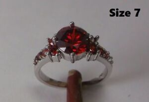 10K Gold Filled Red Ruby Ring – sz 7