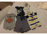 Newborn and 0-3 month boy clothes