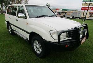 2002 Toyota Landcruiser HDJ100R GXL White 5 Speed Automatic Wagon Hidden Valley Darwin City Preview
