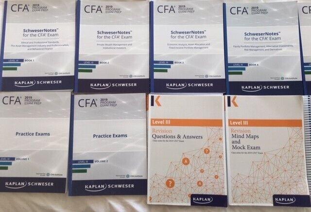 2019 Kaplan Schweser Level 3 CFA Books | in Lewisham, London | Gumtree