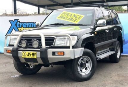 1998 Toyota Landcruiser FZJ105R GXL Black Automatic Wagon Campbelltown Campbelltown Area Preview