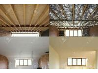 Dry Lining, Plasterboarding, Ceiling Fixing