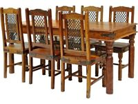 Rosewood Table & 6 Chairs