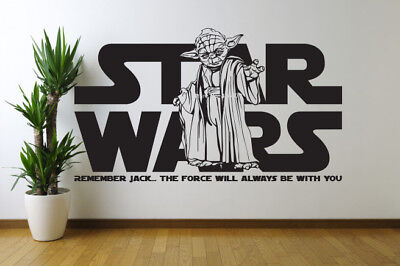 personalised star wars wall sticker anyname vinyl wall art decal sticker 4 SIZES