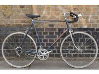 Vintage road bike PEUGEOT with classic steel frame size 23inch, 12 speed, Wolber wheel set, WARRANTY