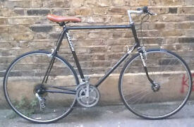 Vintage racing bike RALEIGH PURSUIT frame size 23inch - NEW TYRES, SADDLE, custom bar, serviced