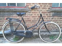 Vintage ladies Omabike Omafiets dutch bike MONTEGO in black - 1 speed, size 21in - Welcome for ride