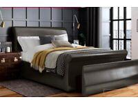 Detroit Upholstered Sleigh Bed Frame 5'King