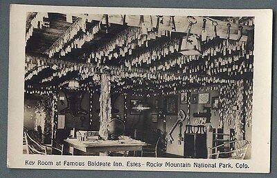 Vintage  Key Room Baldpate Inn Estes Rocky Mountain National Park RPPC