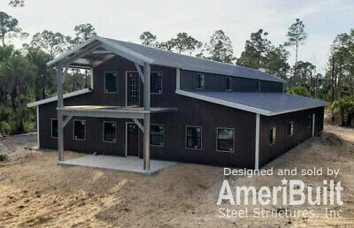 American Barn Style Home Shell Kit 4536 Sq Ft  Storage