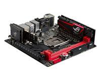 Gamer PC parts CPU i7 4790K 16GB DDR3 Asus maximus Impact VII ROG ITX 1150 motherboard gtx 1060 PSU