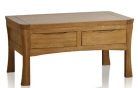 100% Solid Oak 4 Drawer Coffee Table - only 18 months old!