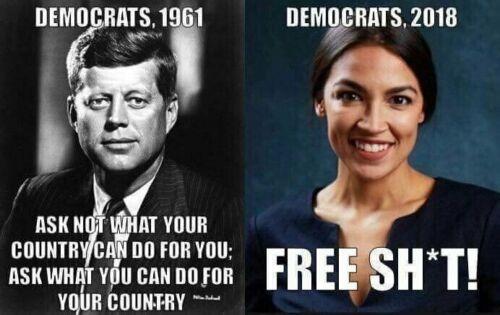 John F. Kennedy JFK Alexandria Ocasio-Cortez AOC A.O.C. Funny Political Sticker